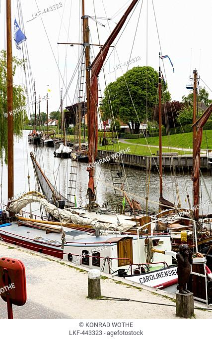 Harbour of Carolinensiel, Wittmund, North Sea, Lower Saxony, Germany, Europe