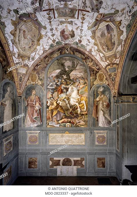 Spanish Chapel (Cappellone degli Spagnoli), by Alessandro Allori, 1366-1367, 14th Century, fresco. Italy, Tuscany, Florence, Santa Maria Novella, Spanish Chapel