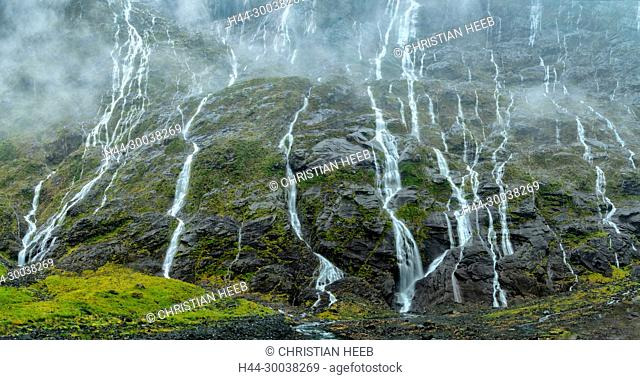 Fiordland National Park Waterfall Stock Photos And Images