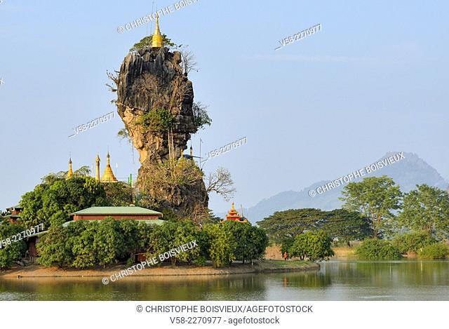 Myanmar, Kayin (Karen) State, Hpa-An, Kyauk Kalap pagoda