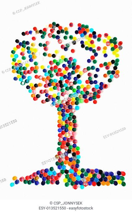 tree from the color caps
