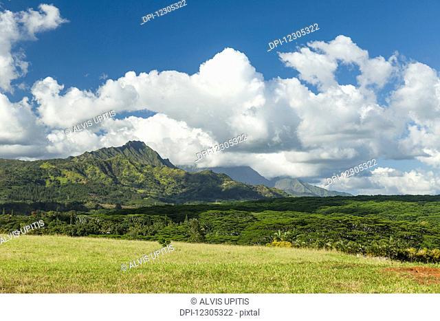 View towards Kapalaoa Peak near Kalaheo; Kauai, Hawaii, United States of America