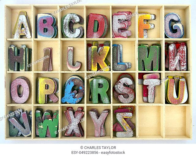 old wooden letters Backround image