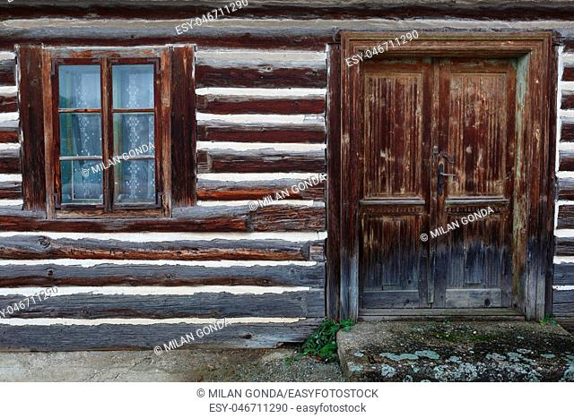 Slovakia, Slovak, Turiec, Pribovce, countryside, rural, village, architecture, house, traditional, detail, window, old, symmetry, facade