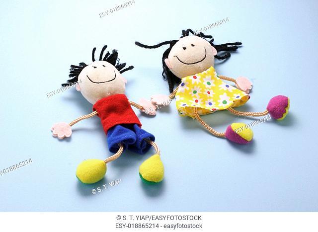 Boy and girl dolls