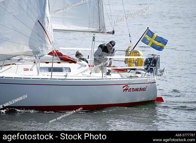 Sailboat on Lake Mälaren
