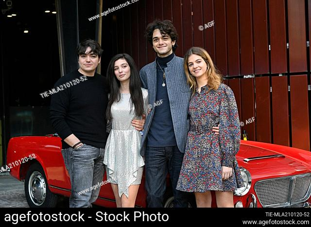 Giovanni Amura, Gaia Girace, Francesco Serpico, Margherita Mazzucco during 'My Brilliant Friend Season 2' tv series premiere, Rome, Italy 21/01/2020