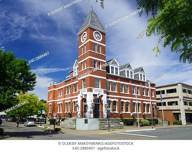 City Hall building in downtown Duncan, Cowichan Valley, Vancouver Island, British Columbia, Canada 2017