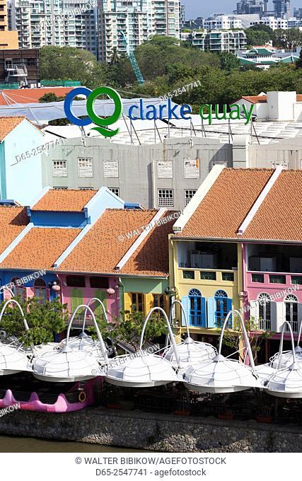 Singapore, Clarke Quay, entertainment district, exterior