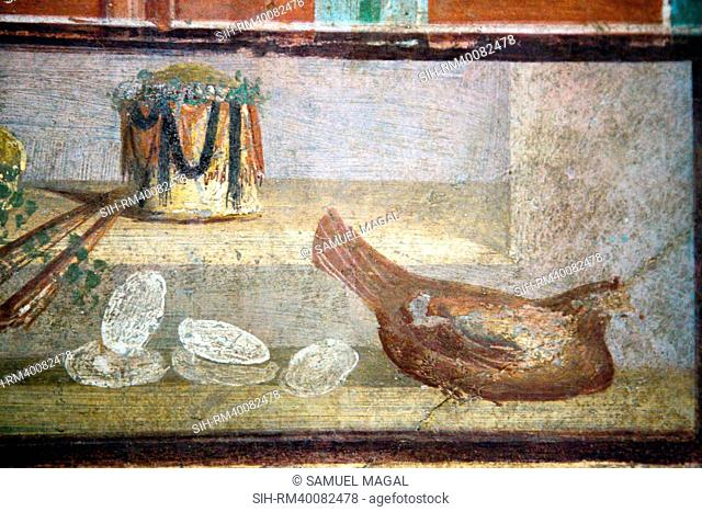 Italy, Naples National Archeological Museum, from Pompeii, Isis Temple, Portico, Decoration