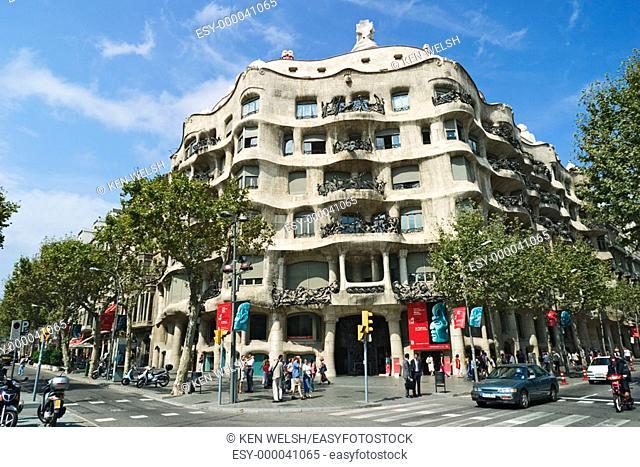 Casa Milà (aka La Pedrera, 1906-1912) by Gaudí. Barcelona. Spain
