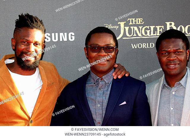 World premiere of Walt Disney's 'The Jungle Book' held at El Capitan Theatre - Arrivals Featuring: David Oyelowo, Caleb Oyelowo, Asher Oyelowo Where: Hollywood