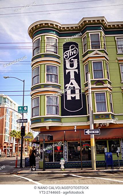 The Hotel Utah Saloon, intimate, circa-1908 bar & music venue offering indie live acts. San Francisco, United States