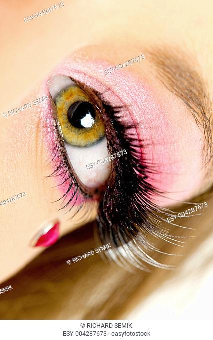 detail of woman&039,s makeup