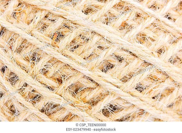 Hemp rope roll gunny texture