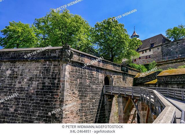 The Kaiserburg Castle, Nuremberg, Baveria, Franconia, Germany