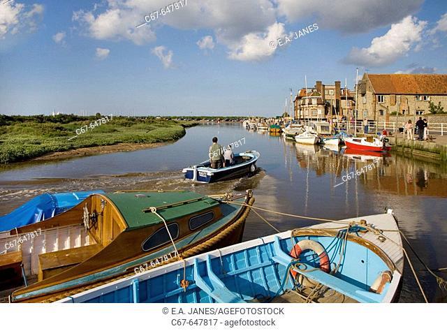 Blakeney Quay. Norfolk. UK