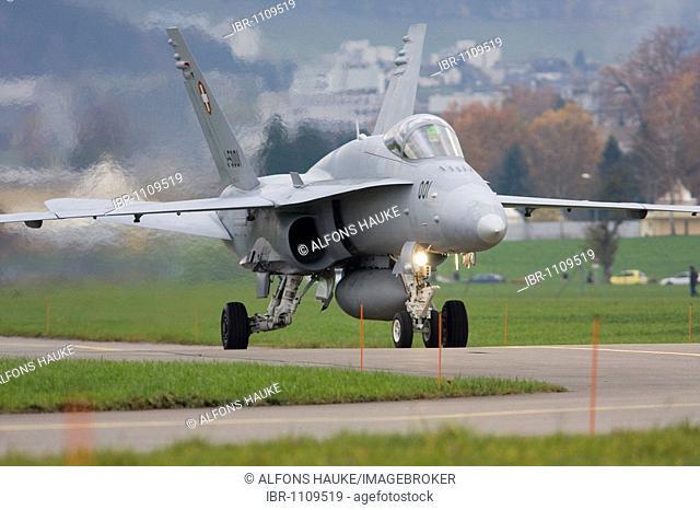 F/A-18 during the Eurofigher Evaluation, Emmen, Luzern, Switzerland