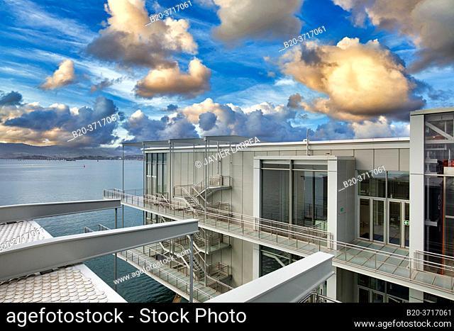 Botin Center Museum Art and Culture, Architect Renzo Piano, Santander bay, Santander, Cantabria, Spain, Europe