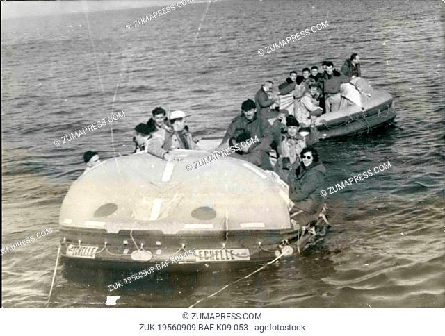 Sep. 09, 1956 - Sea Saving Operation Off Quiberon: An Experimental Sea Saving Operation Organized By The French Navy Was Held Off Quiberon (Brittany)