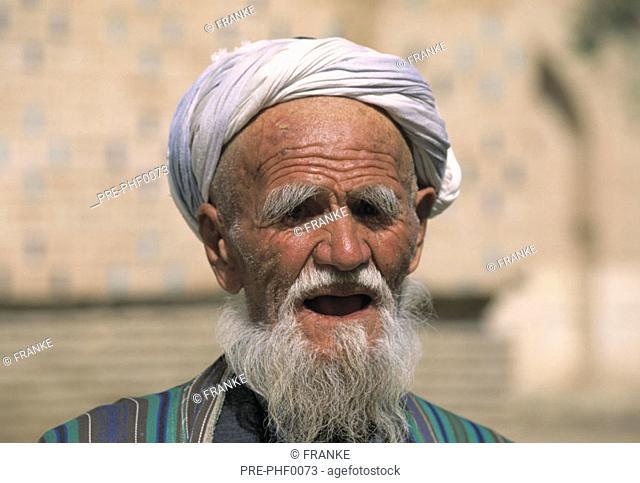 Old moslem men in Samarkand, Usbekistan