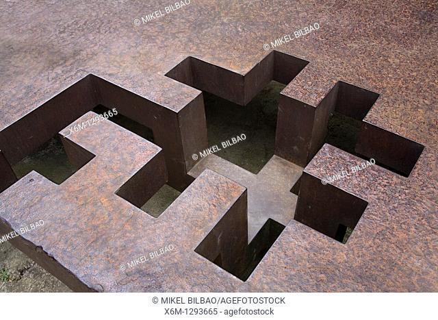 'Homenaje a Lucca Paccioli' work  Chillida Leku Museum  Hernani, Guipuzkoa, Basque Country, Spain