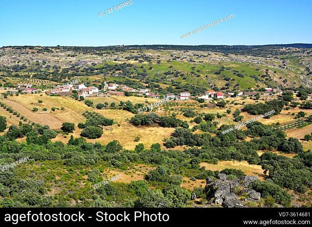 Pinilla de Fermoselle, panoramic view. Villar del Buey municipality, Arribes del Duero Natural Park, Sayago, Zamora province, Castilla y Leon, Spain