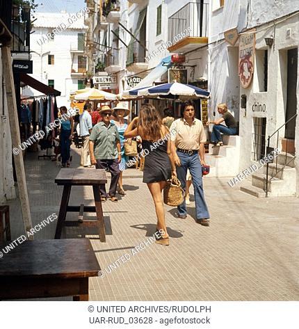 Sommerurlaub in Ibiza-Stadt, Ibiza 1976. Summer vacation in the city of Ibiza; Ibiza 1976