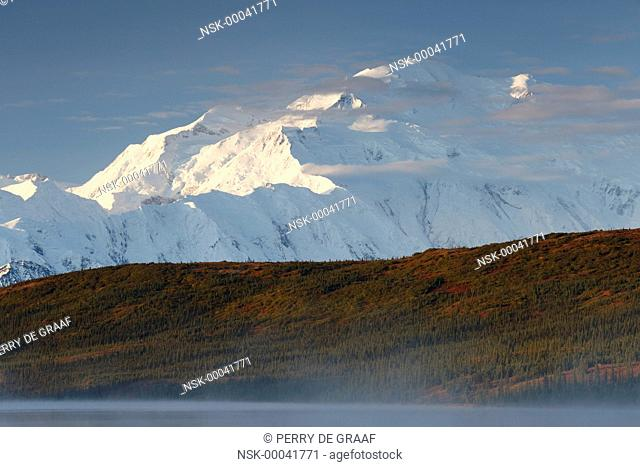 Denali, also known as Mount McKinley, its former official name, is North America's highest mountain at 20,310 feet or 6,190 meter, United States, Alaska