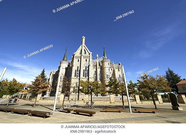 Palacio Episcopal, by Gaudi, Astorga, León province. Castilla y León, Spain, Europe