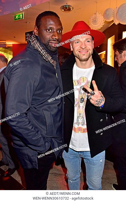 Aftershow party of the premiere of 'Ploetzlich Papa' at Galeries Lafayette. Featuring: Omar Sy, Mateo Jaschik Where: Berlin