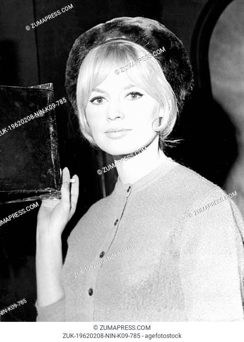 Feb. 8, 1962 - Paris, France - A shot out of the movie 'Love on a Pillow' done in Billancourt movie studios in Paris. The archetypal sex kitten