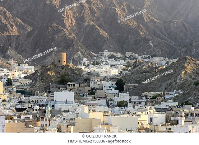 Sultanate of Oman, gouvernorate of Mascate, Muscat (or Mascate), Mutrah (or Matrah) harbour at the foot of the Mount Hajar