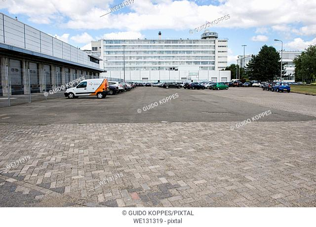 Rotterdam, Netherlands. Exterior and surroundings of the 1930 built, and 2014 elected UNESCO site: 'Van Nelle Fabriek' in Rotterdam North-West