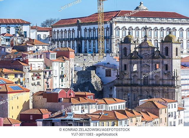 Episcopal Palace and Church of Cricket's in Porto, second largest city in Portugal on Iberian Peninsula