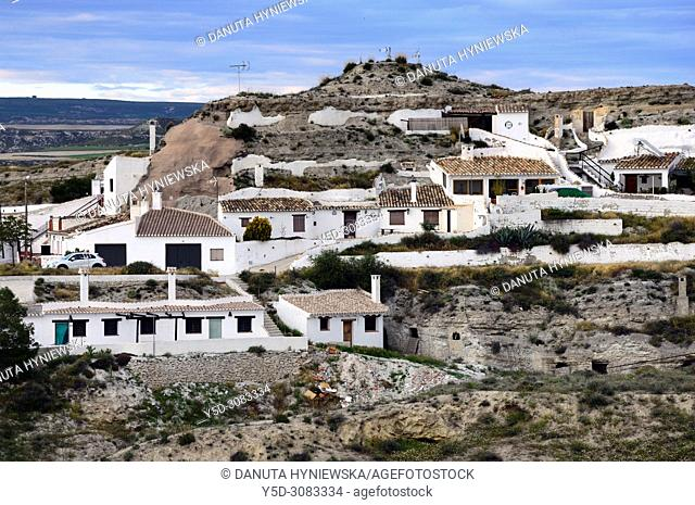 Cave houses in Galera village - unspoilt cave country in mountainous region of northern Andalusia, between the Sierra Nevada and the Sierra de Castril