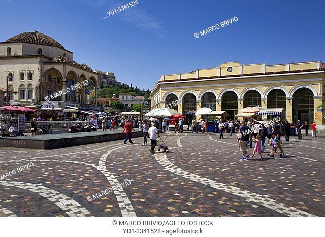 Athens Greece. Monastiraki square