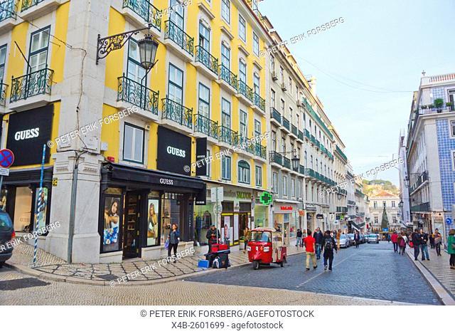 Rua Garrett, Chiado, Lisbon, Portugal