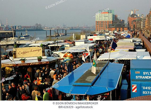 Fish market, Hamburg, Germany, Europe