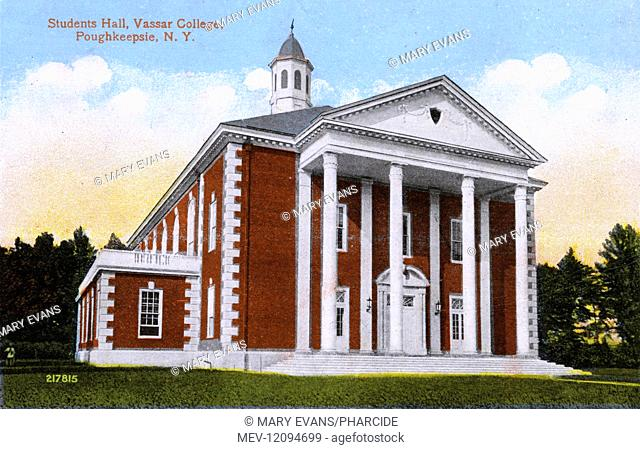 Students' Hall, Vassar College, Poughkeepsie, New York State, USA