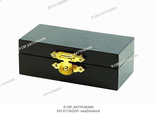 Luxury black box on white background