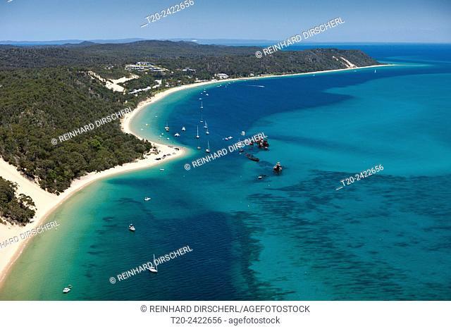 Tangalooma Wrecks, Moreton Island, Brisbane, Australia