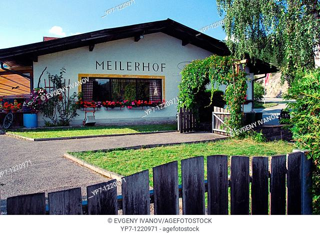 Meilerhof small family restaurant in Alps Tirol, Austria
