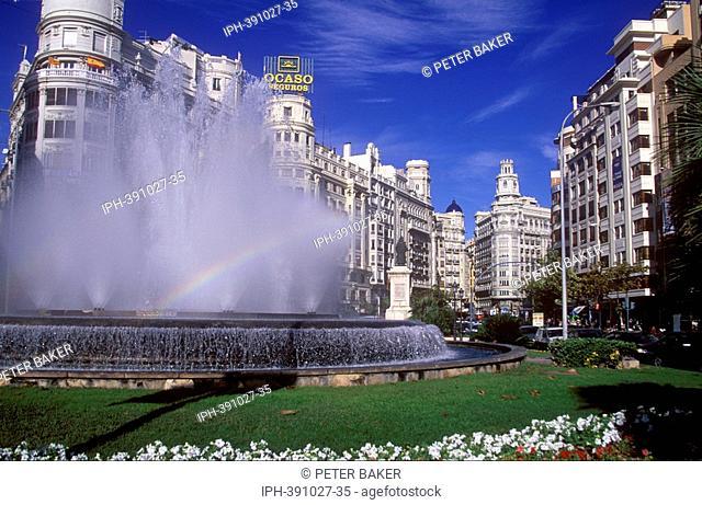 Plaza De l Ajuntament - Town Hall Square in Valencia