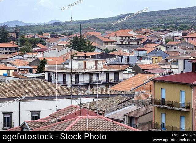 Roofs of Randazzo town and comune in the Metropolitan City of Catania, Sicily, southern Italy