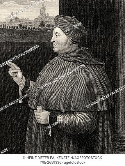 Thomas Wolsey or Woolsey, c. 1473-1530, an English political figure and cardinal of the Roman Catholic Church