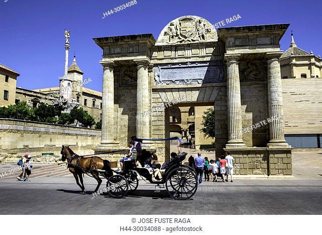 Spain, Andalucia, Cordoba City, Bridge Gate