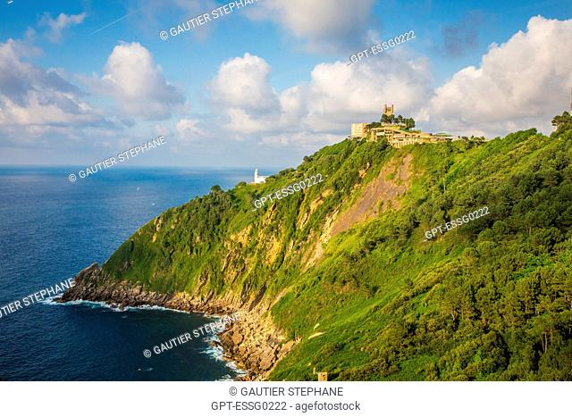 MONTE IGUELDO, LIGHTHOUSE AND FORTIFIED TOWER, SAN SEBASTIAN, DONOSTIA, BASQUE COUNTRY, SPAIN