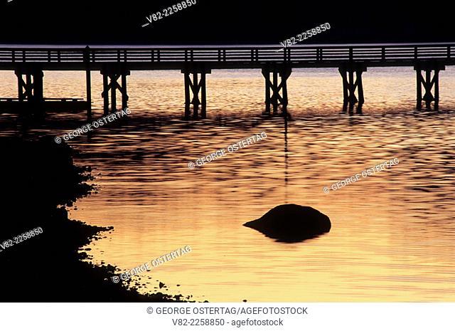 Pier dawn, Waterfront Park, Allyn, Washington