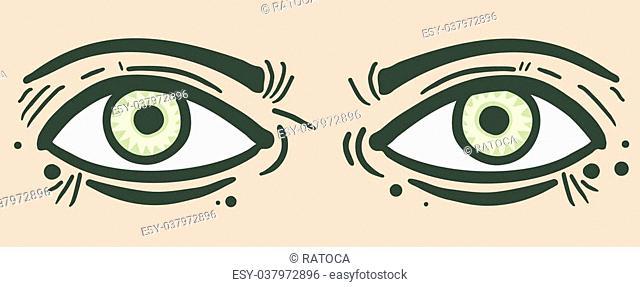 Creative design of eyes man